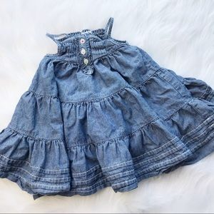 Vintage Baby Gap Chambray Dress 6-12 months